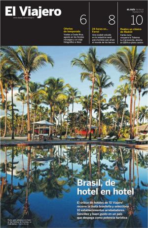 El Viajero portada Hoteles Brasil