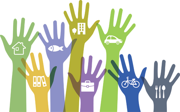 Sharing hands for a sharing economy